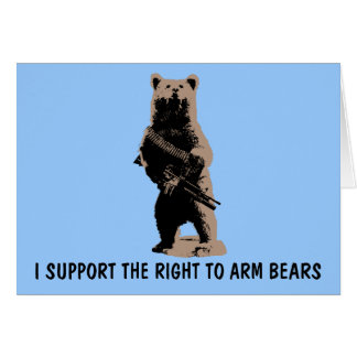 Bear arms Grizzly Bear Card