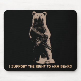 Bear arms Grizzly Bear Mouse Mat