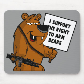 Bear arms Grizzly Bear Mouse Pad