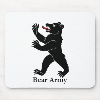 Bear Army Mouse Pad