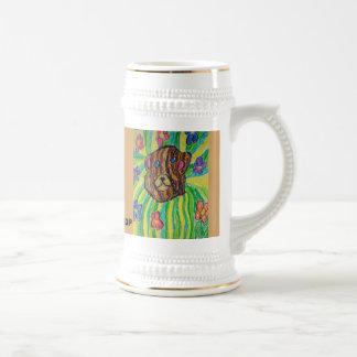 bear art beer stein