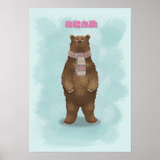 Bear Art Print Poster