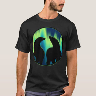 Bear Art Shirt Northern Lights Bear T-shirts Gifts