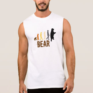 Bear/Ascent of Man Bear Colors (lg) Sleeveless T Sleeveless Shirt