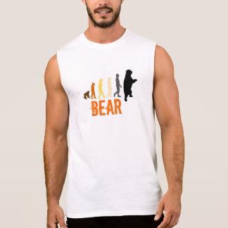 Bear/Ascent of Man Bear Colors Orange Claw Back Sleeveless Shirt