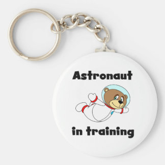 Bear Astronaut in Training Tshirts and Gifts Basic Round Button Key Ring