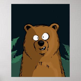 Bear at Night Poster