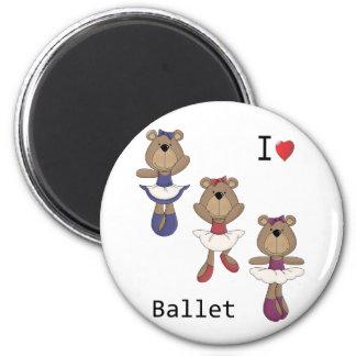 Bear Ballet 6 Cm Round Magnet
