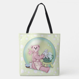 BEAR BATH LOVE All-Over-Print Tote Bag Large