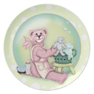 BEAR BATH  Melamine Plate