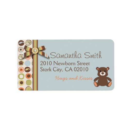 Bear Bear Boy Address Label