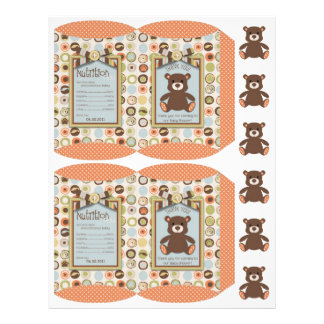 Bear Bear Boy Party Favor Box Template Flyer