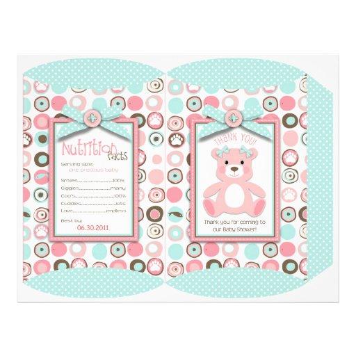 Bear Bear Girl Puff Box Template Full Color Flyer