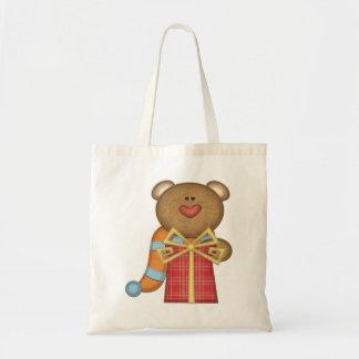Bear & Birthday Present - Boys or Girls Gift Bag