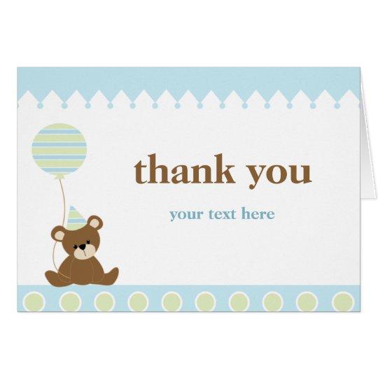 Bear Birthday Thank You Card