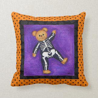 Bear Bones Halloween Pillow