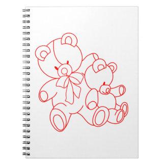 Bear Buddies Redwork Note Books