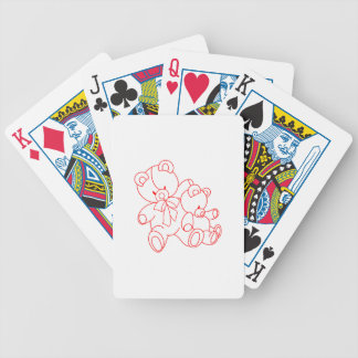 Bear Buddies Redwork Playing Cards