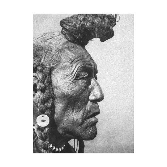 Bear Bull A Blackfoot Warrior Canvas Art