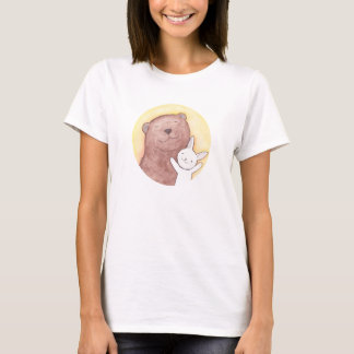 Bear & Bunny Happy Cute T-shirt Animal Graphic tee