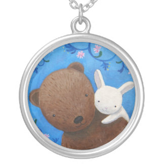 Bear & Bunny Love Anniversary Necklace Woodland
