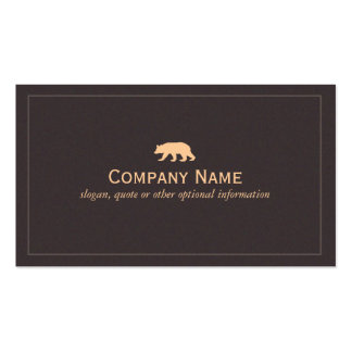 Bear Business  Card Business Card Template