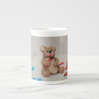 Bear cake topper porcelain mugs