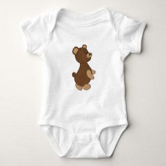 bear cartoon brown illustration baby bodysuit