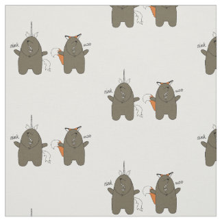 Bear Cartoon Print Fabric