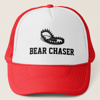 Bear Chaser Grey Bear Trap Trucker Hat