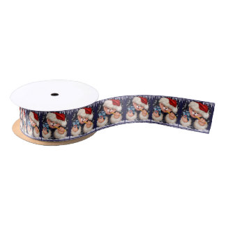BEAR CHRISTMAS 2 SATIN RIBBON