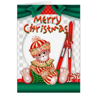 BEAR CHRISTMAS 6 CARTOON Greeting Card