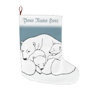Bear Christmas Stocking Custom Polar Bear Stocking