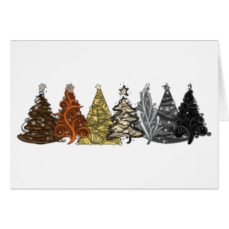 Bear Christmas Trees Card