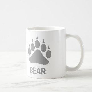 Bear Claw Bear (Grey) Basic White Mug