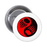 Bear Claw Yin Yang Pins
