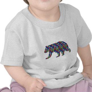 BEAR Colorful DOTS wild animal NavinJOSHI NVN53 ZO Tshirts