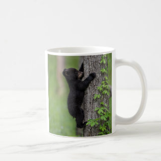Bear Cub Climbing a Tree Coffee Mug