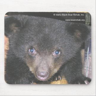 Bear Cub Close-Up Face Mousepad