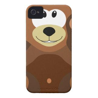 Bear cub in cuddly toy iPhone 4 Case-Mate case