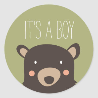 Bear Cub Round Sticker