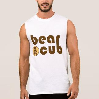 Bear Cub Teddy Bear (Brown) Sleeveless Shirt