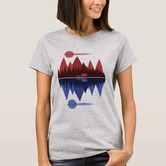 Bear & Cubs (Red/Blue) T-Shirt