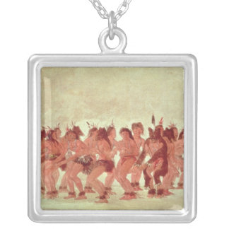 Bear Dance Silver Plated Necklace