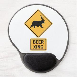 Bear Deer Beer Crossing Gel Mouse Pads