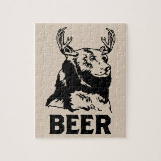 Bear + Deer = Beer Jigsaw Puzzle