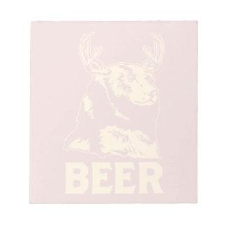 Bear + Deer = Beer Notepad