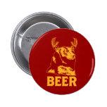 Bear + Deer = Beer Pinback Button