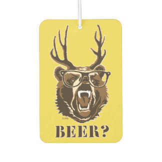 Bear, Deer or Beer Car Air Freshener