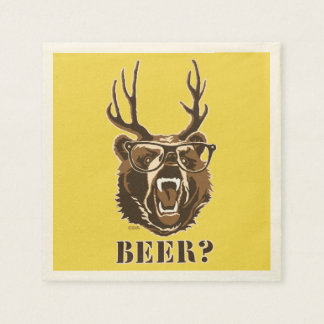 Bear, Deer or Beer Disposable Napkin